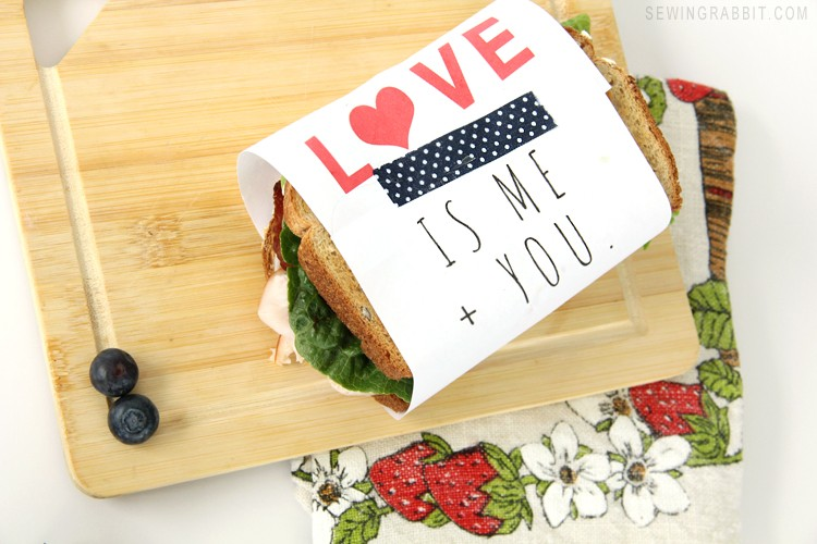 Valentine Sandwich Wrapper – Free Printable
