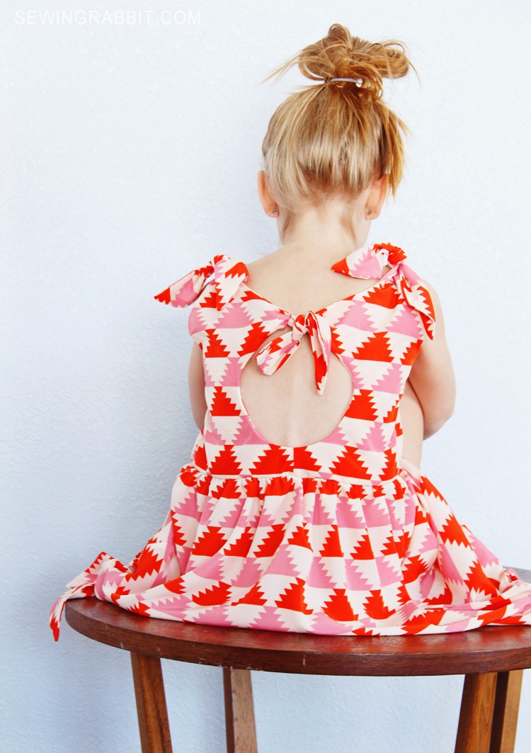 Knot Dress | Free Girls Dress Patterns You Can Use For Sewing | girl sundress patterns