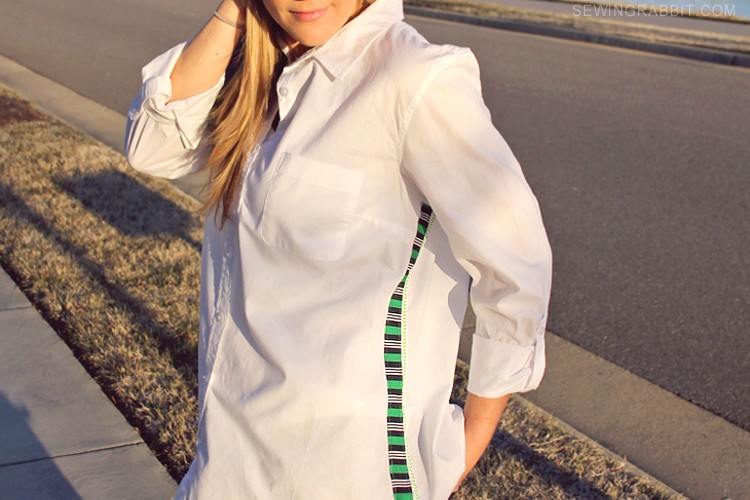 Embellished Button Up Shirt
