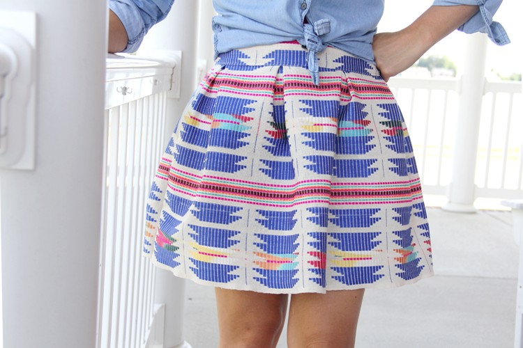 Pleated Mini Skirt DIY