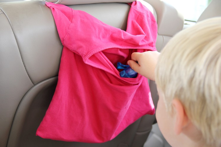 Easy T-Shirt Car Organizer