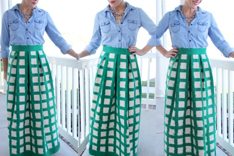 Women\'s Pleated Maxi Skirt DIY