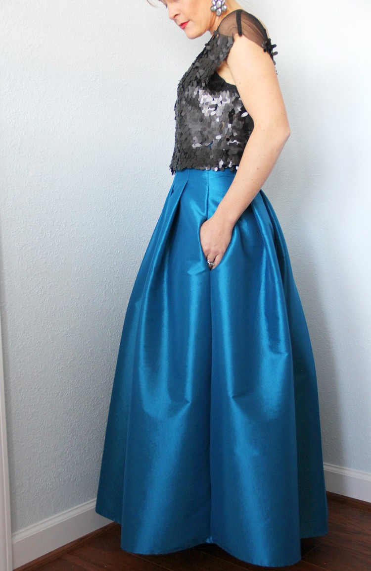 Top Stitched Pleat Maxi Skirt Diy The Sewing Rabbit