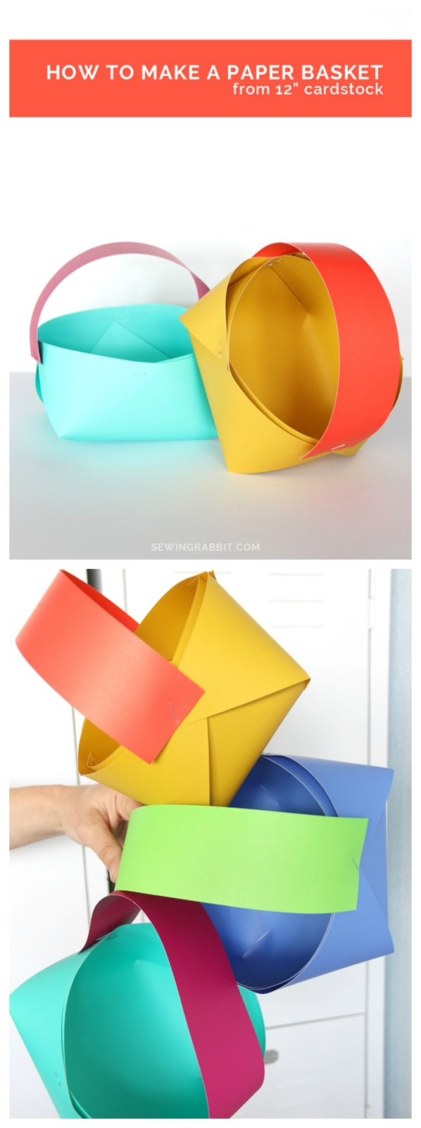 how to make the easiest paper basket out of cardstock