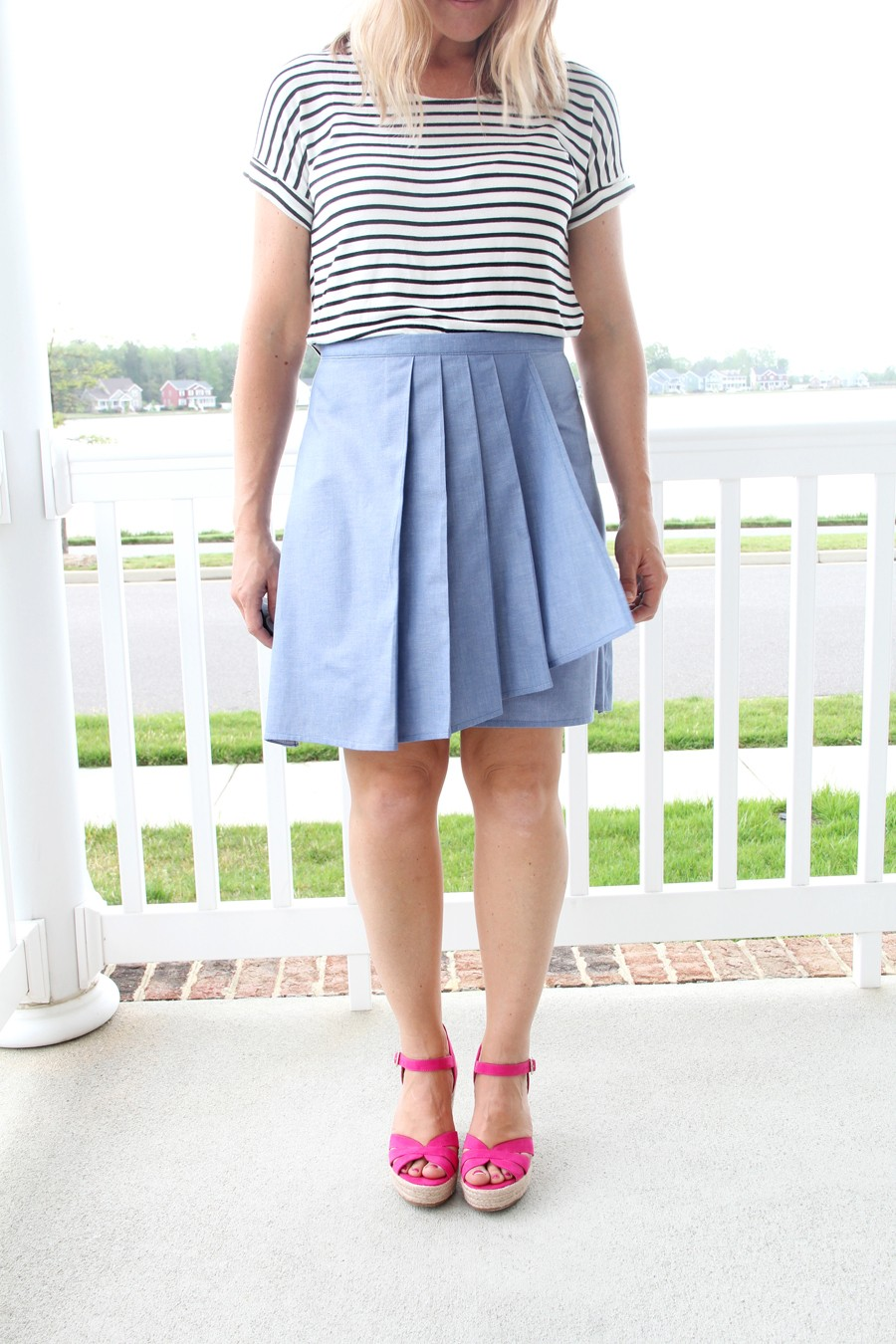 Pleated Wrap Skirt Pattern
