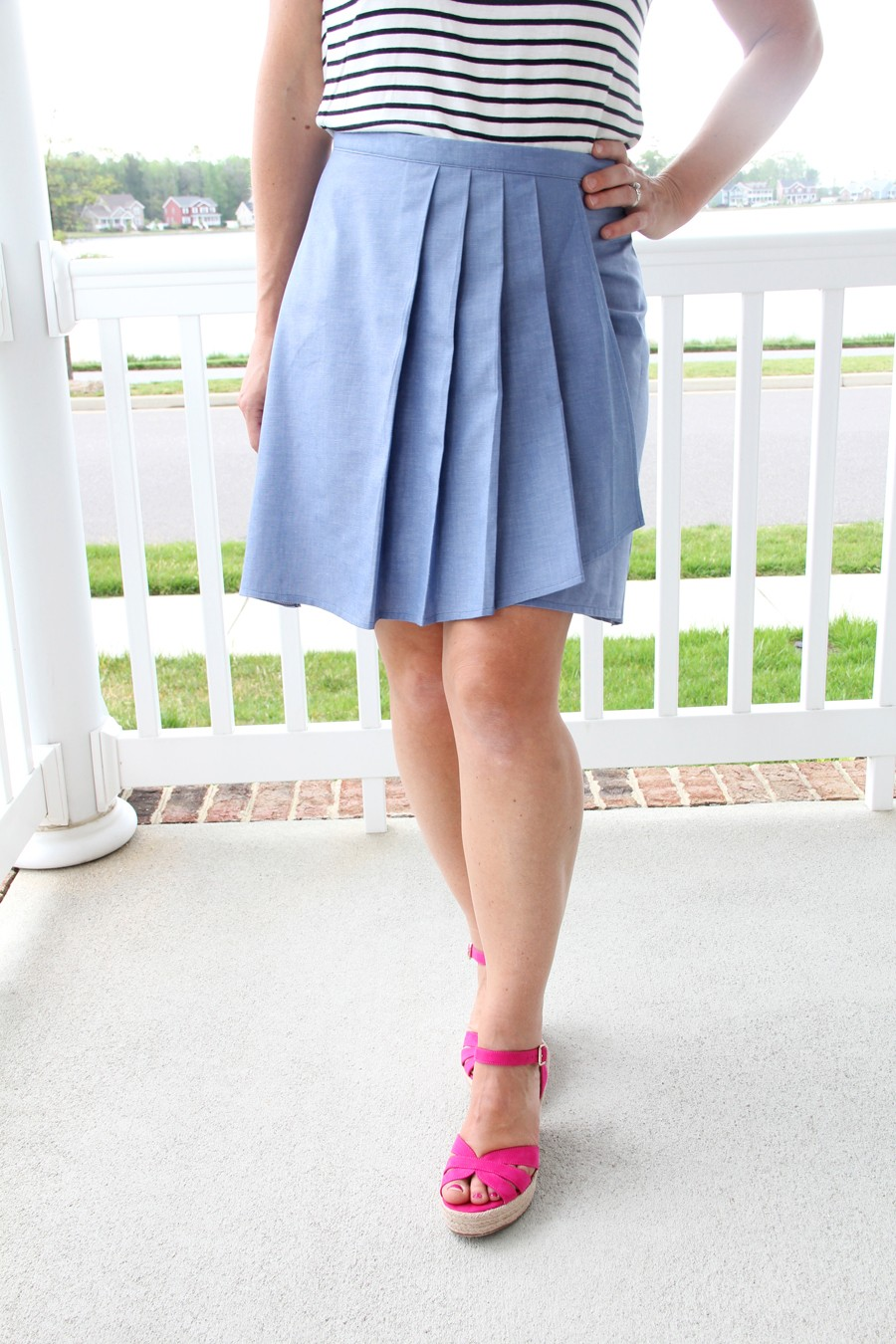 0f181fc02c Pleated Wrap Skirt Pattern - The Sewing Rabbit