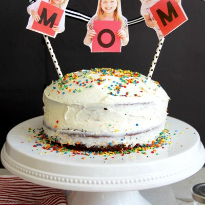 Mother's Day Cake – Photo Bunting