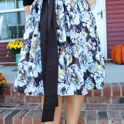 Thanksgiving Skirt with Sash