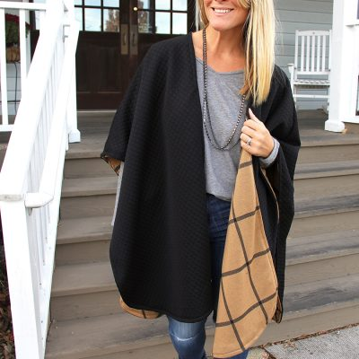 Reversible Poncho DIY