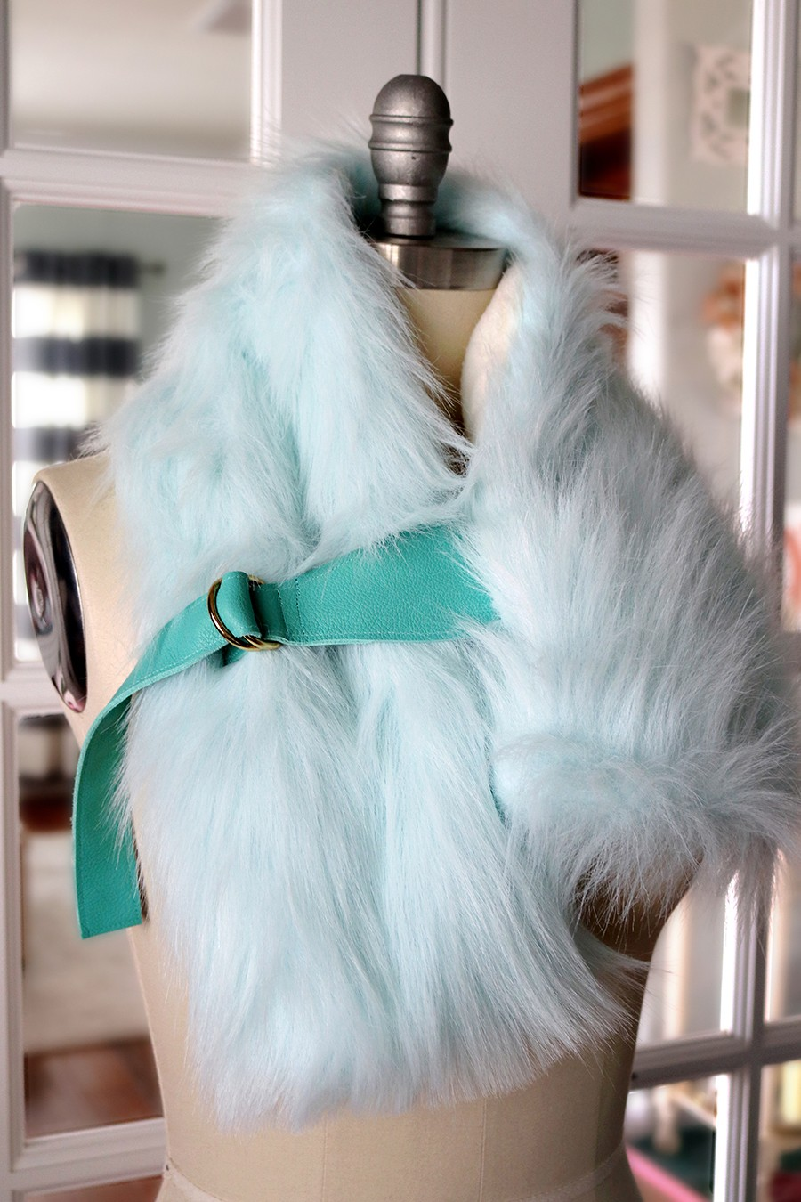 Faux Fur Buckled Stole The Sewing Rabbit