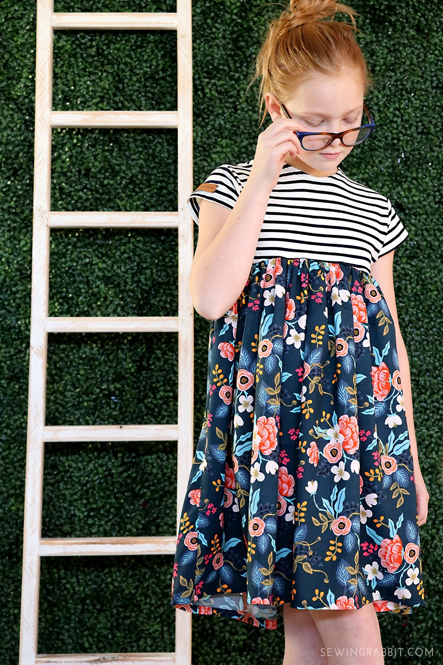 Make this Look: Rifle Paper Co. babydoll dress, free kids dress pattern - perfect for Spring!
