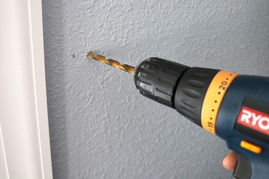 drilling holes in walls