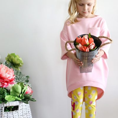 Cocoon Sweatshirt Dress DIY