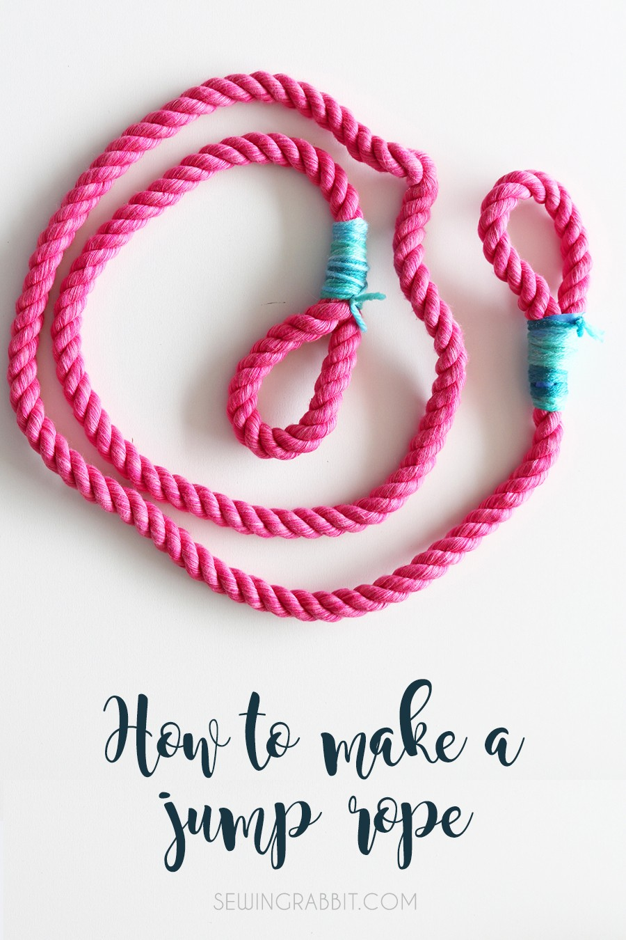 make a cute jump rope this Summer for your kids!