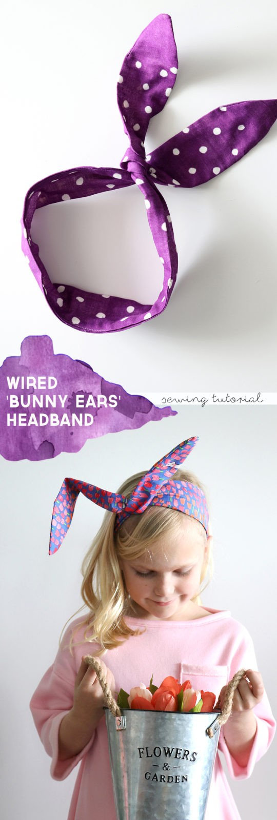 how to make a wired bunny ears headband