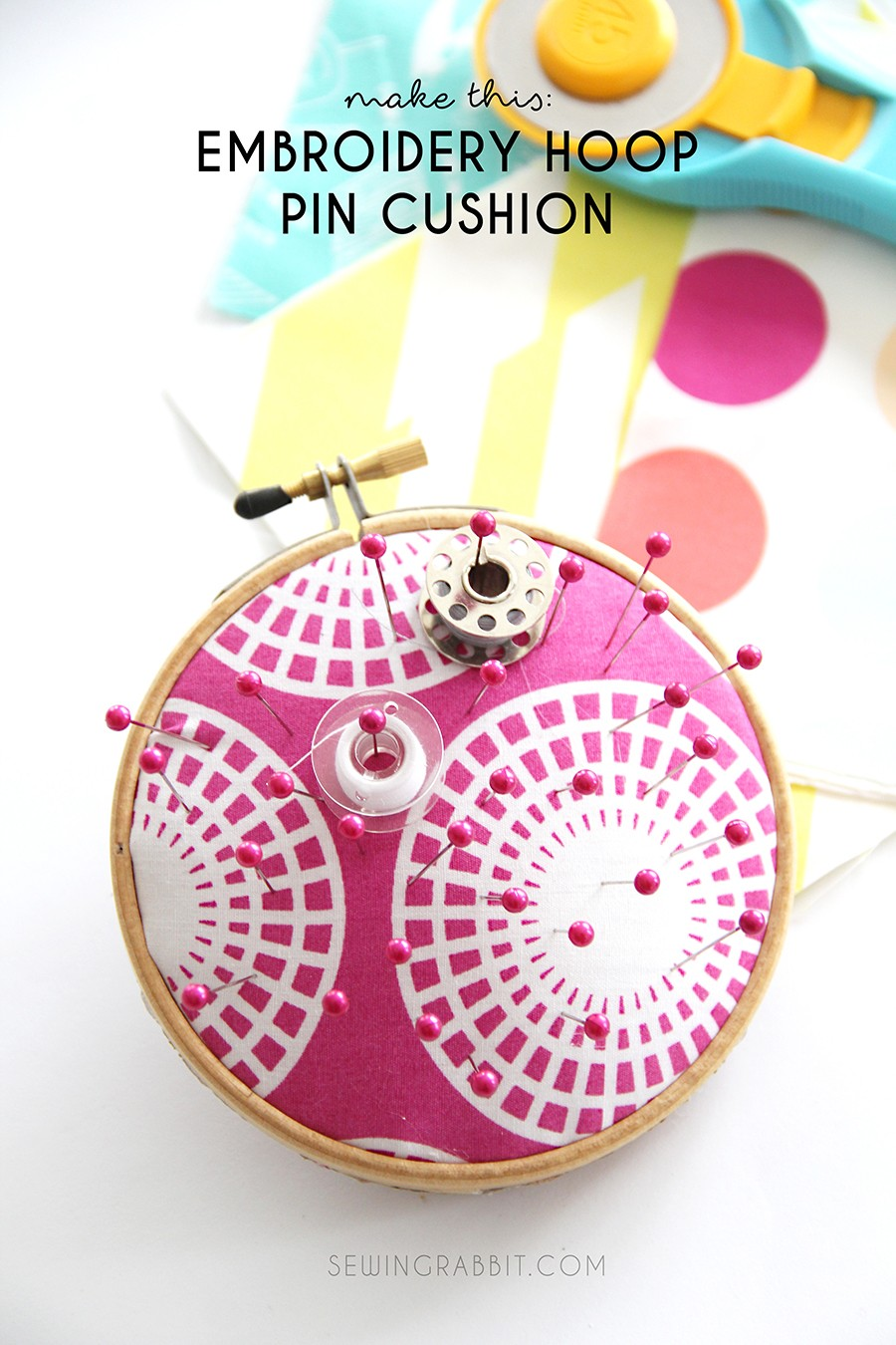 no sew pin cushion, mothers day gift idea