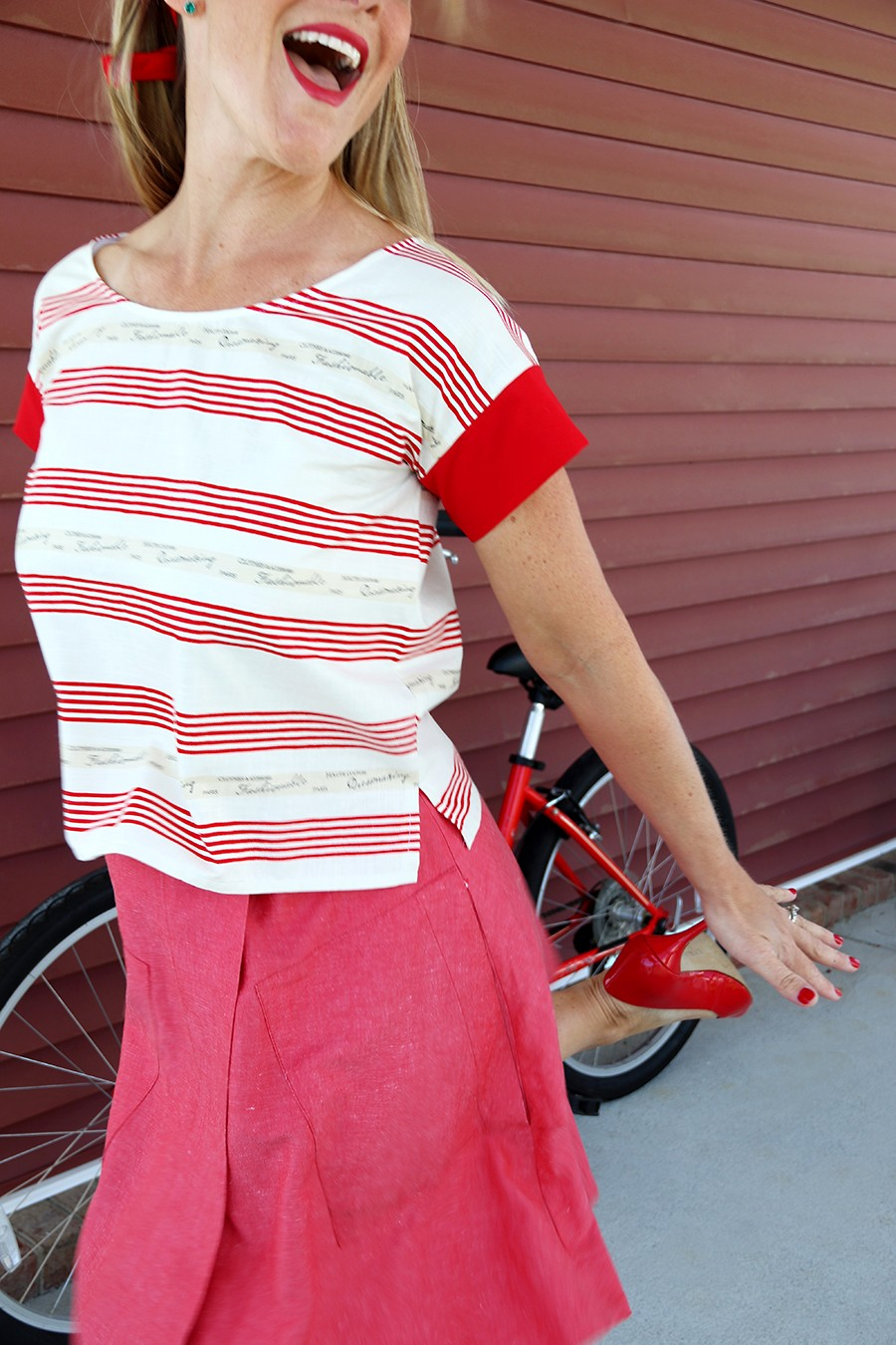 easy cropped top diy, free women's shirt pattern