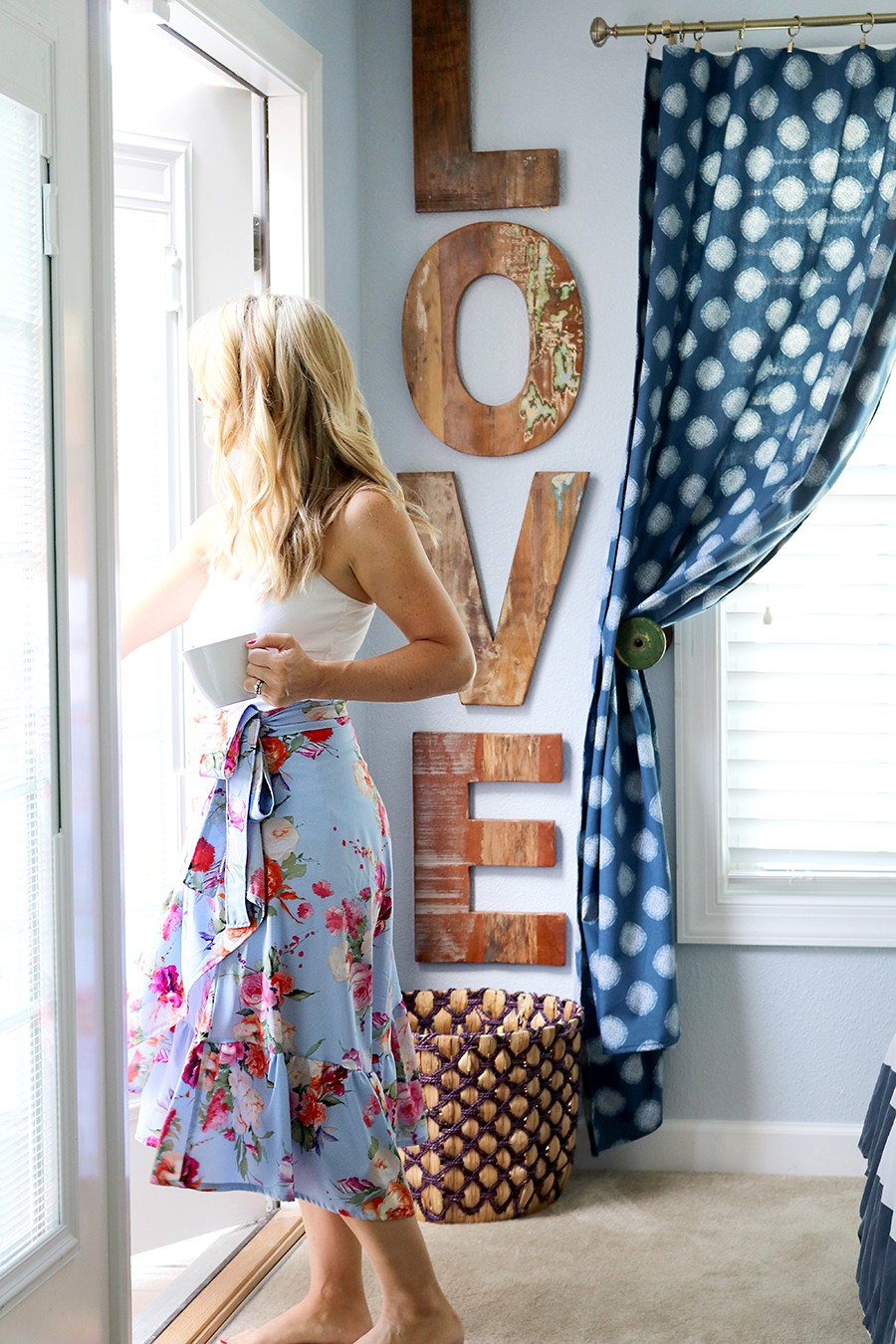 how to sew a ruffle wrap skirt, a BurdaStyle Wrap Dress pattern hack