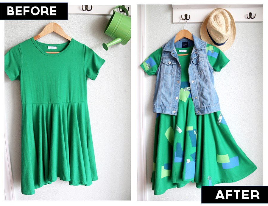 Cover up stains with cute do-it-yourself patches! (no sewing required)