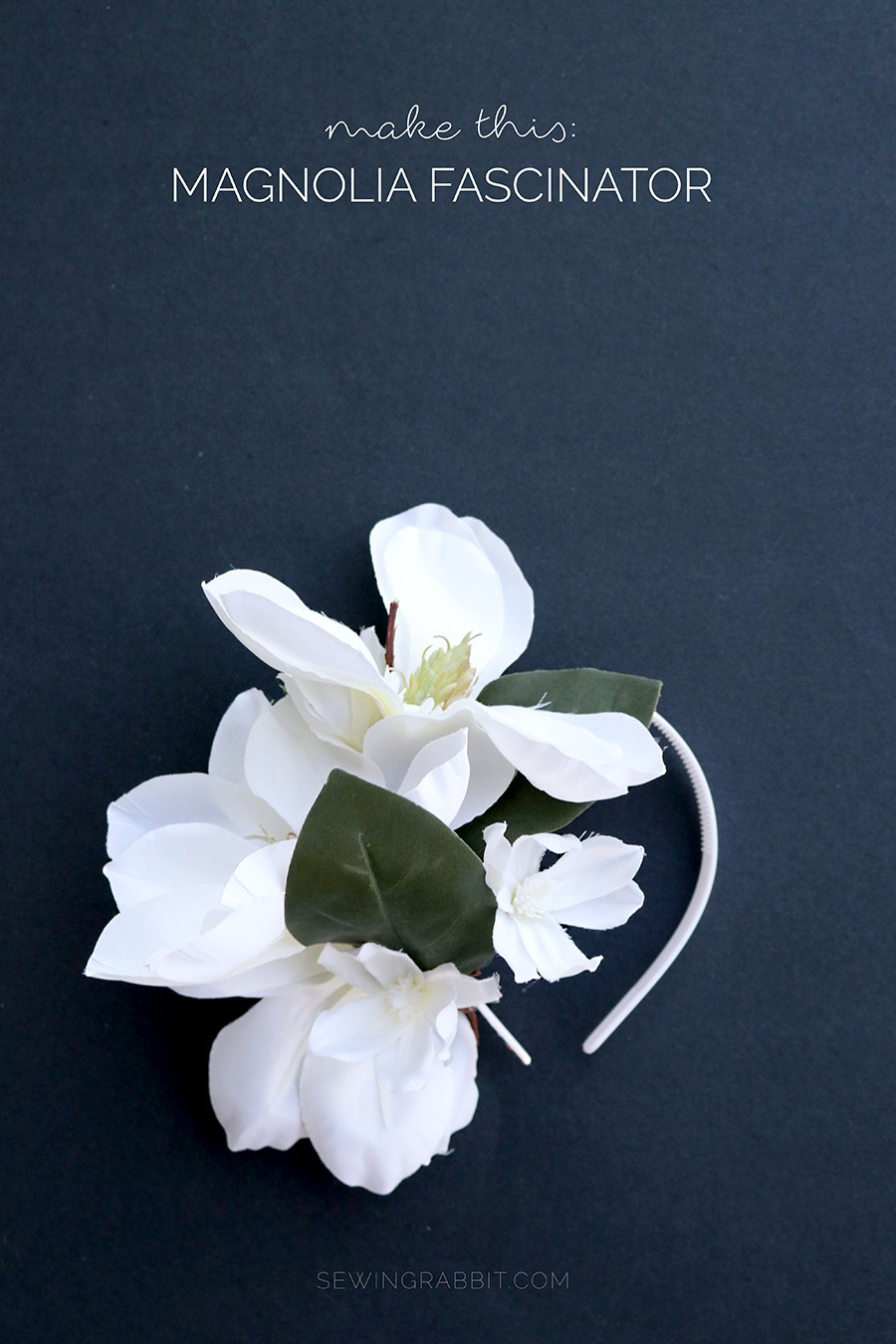 how to make a magnolia fascinator