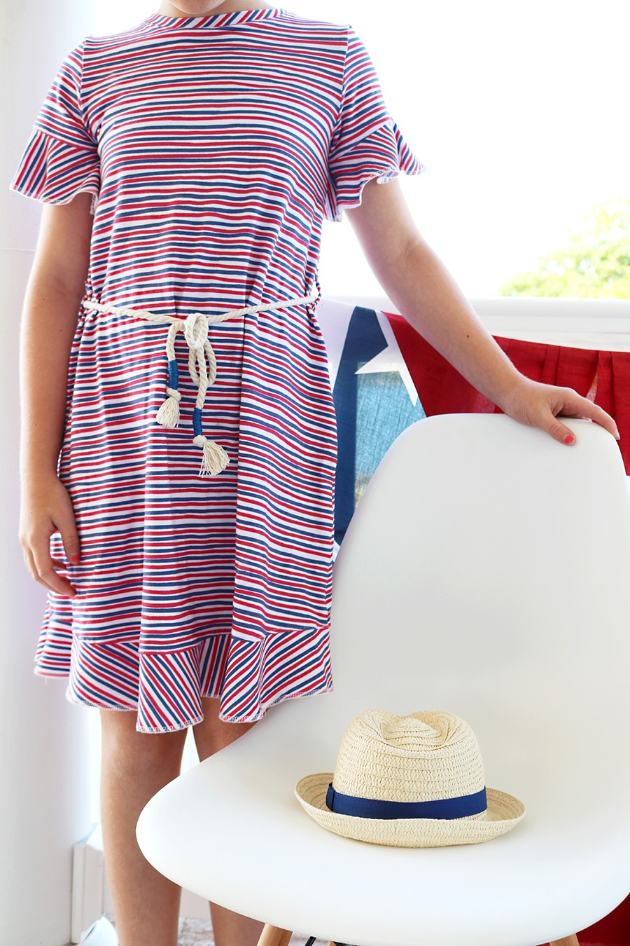 Circle Ruffle Dress sewing diy