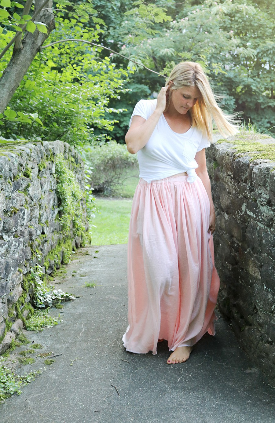 Gauze Maxi Skirt Diy The Sewing Rabbit