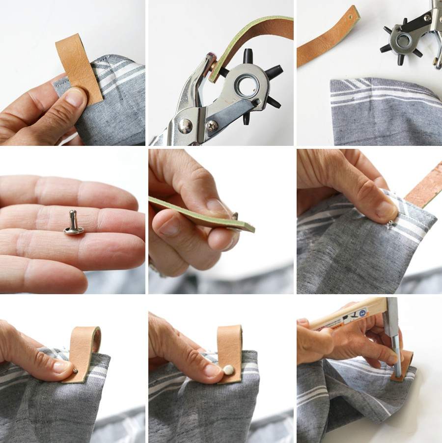 how to place rivets in leather