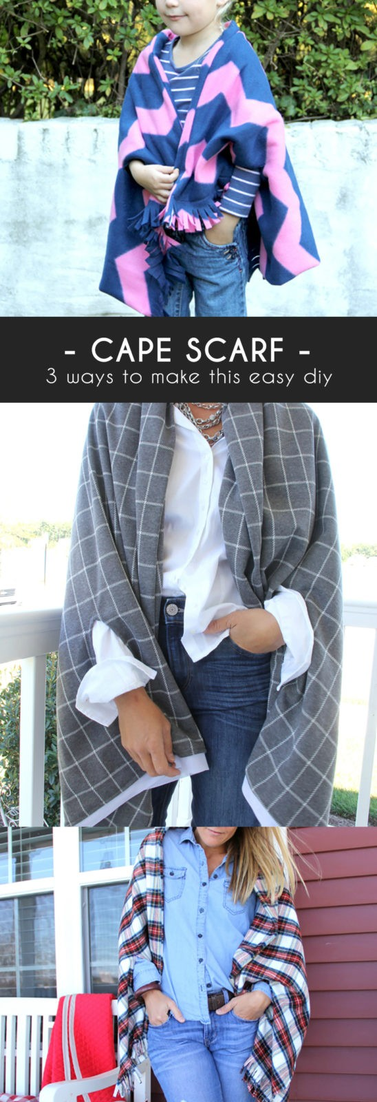 3 ways to sew a cape scarf