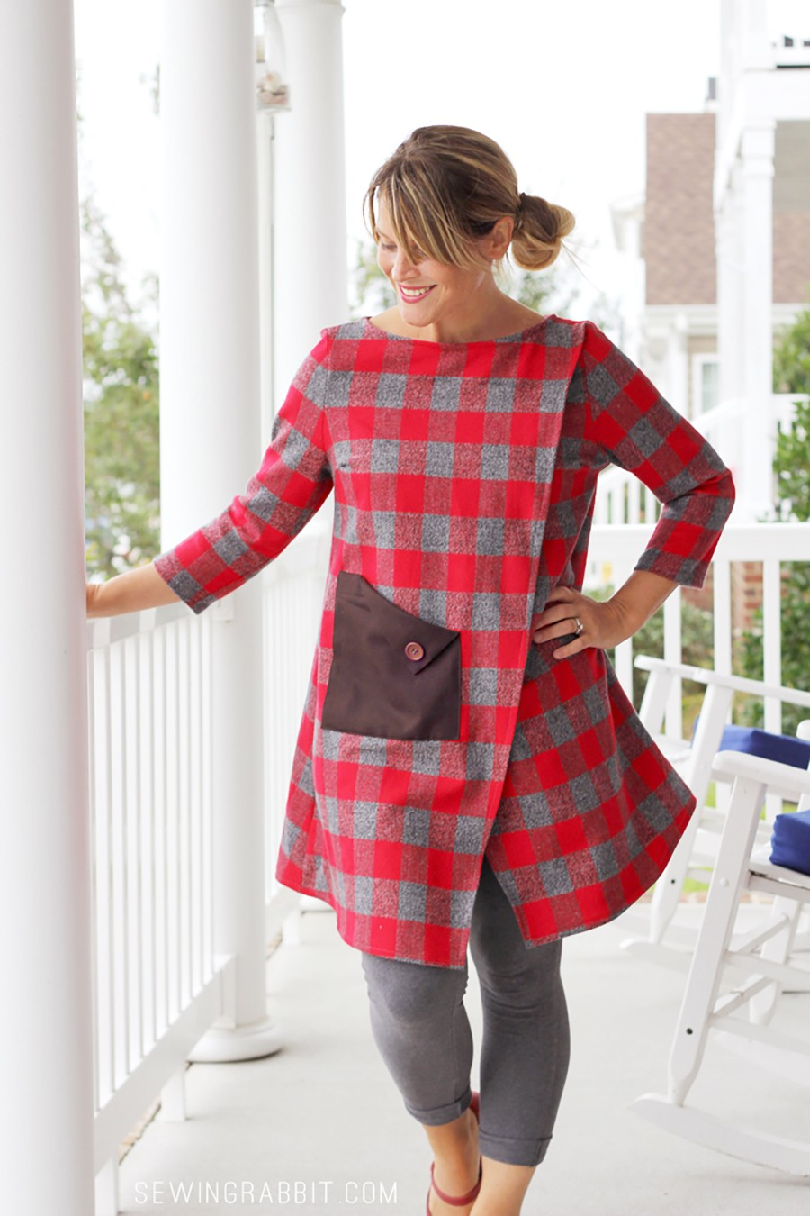 FALL FASHION: Make this flannel wrap dress