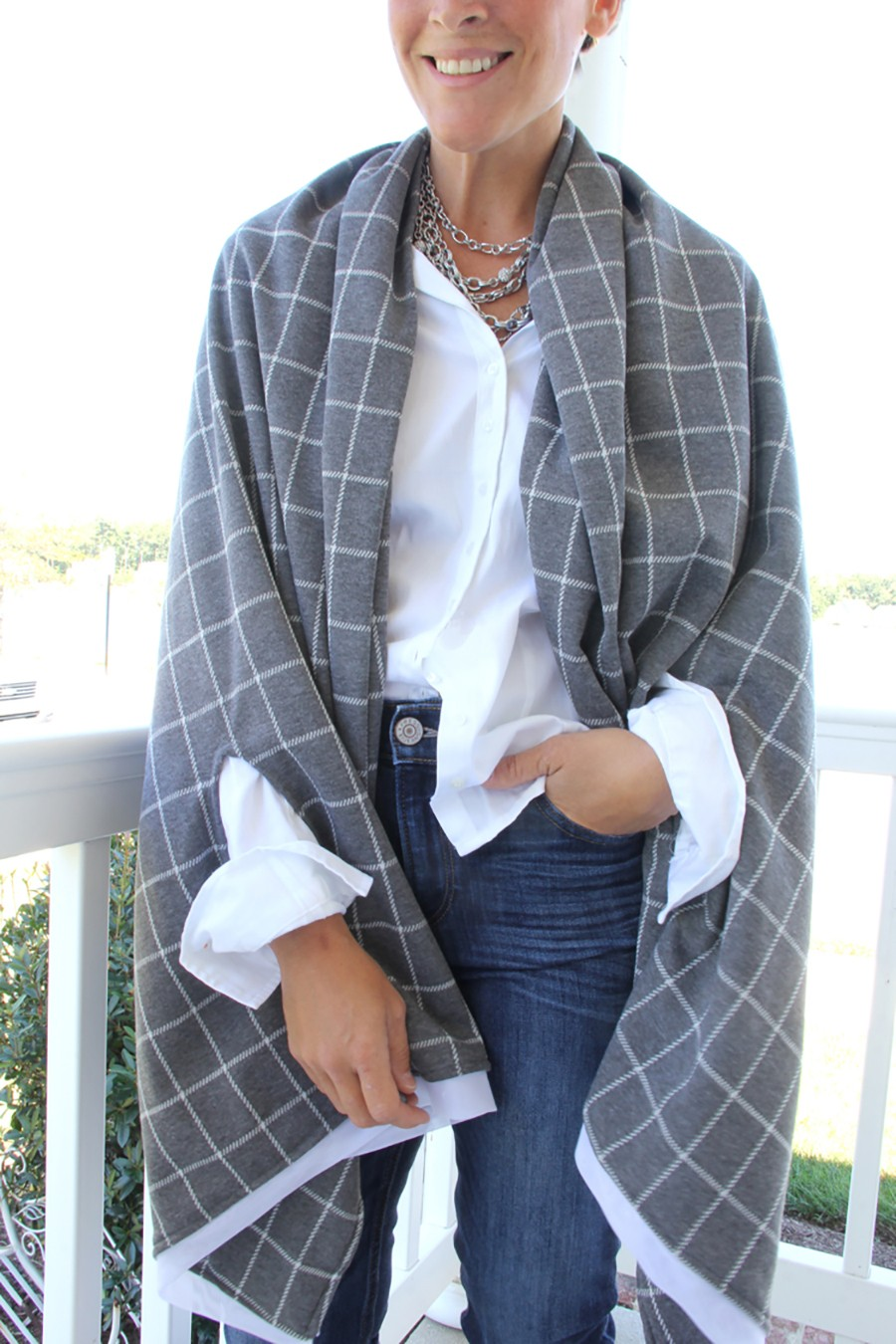 How to make a cape scarf for Fall