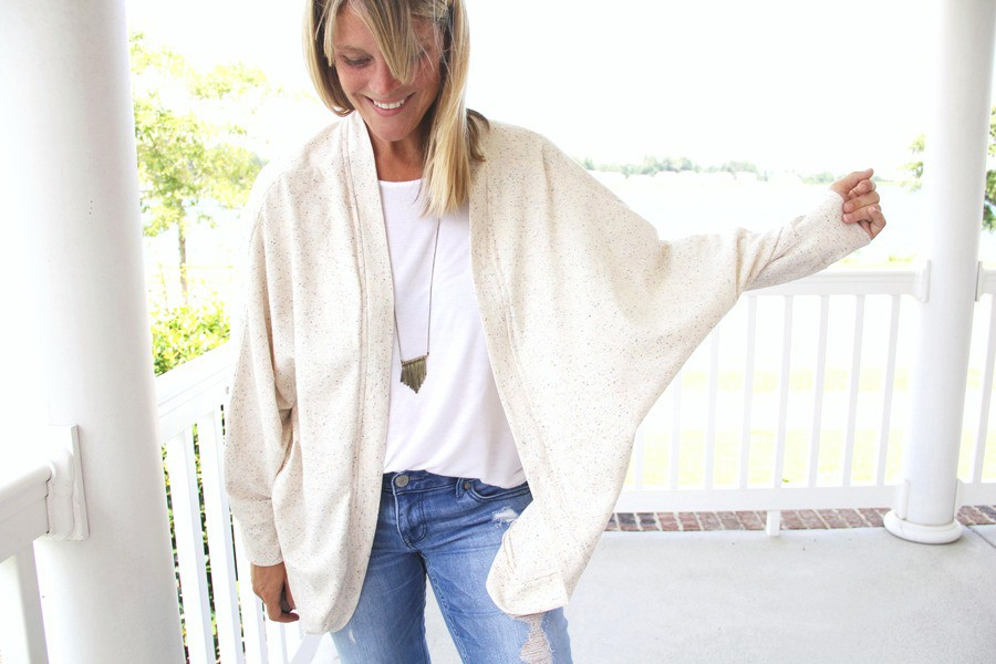 FALL FASHION: Slouchy cardi DIY