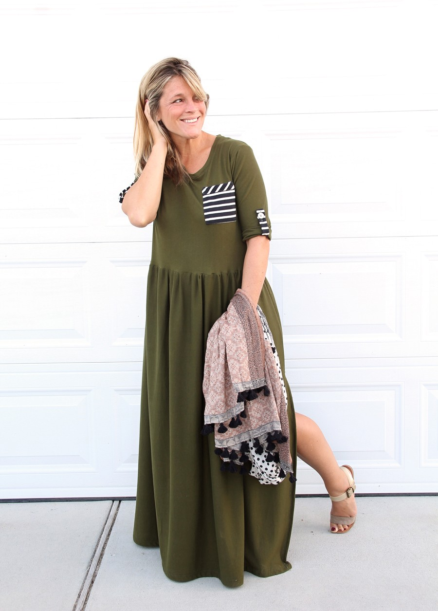 t-shirt maxi dress DIY