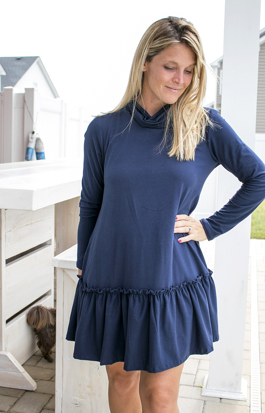 MAKE THIS LOOK: Drop waist knit dress