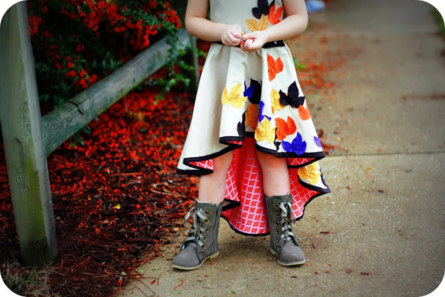 Fall skirt tutorial