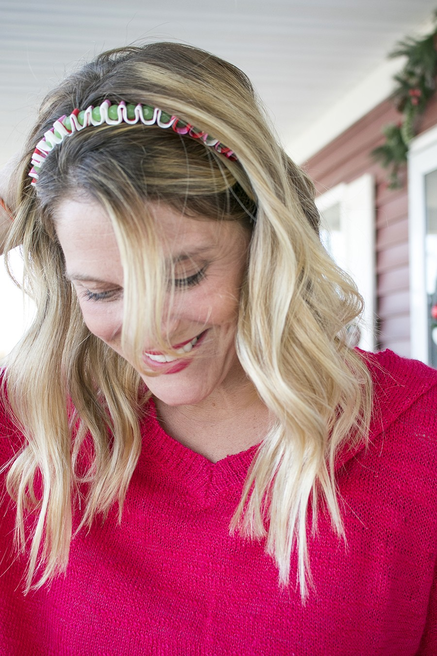 fabric scrap headband DIY