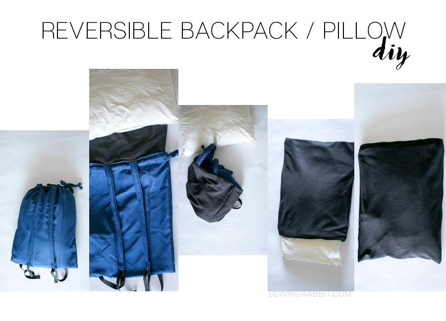 make a reversible backpack pillowcase