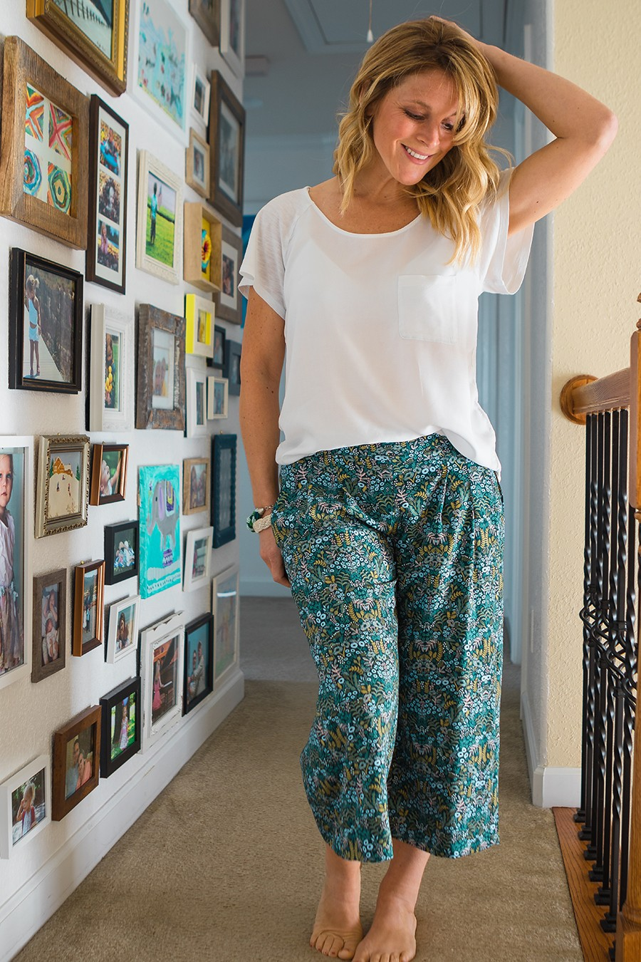 Perfect pants sewing pattern for relaxing in the Spring and Summer