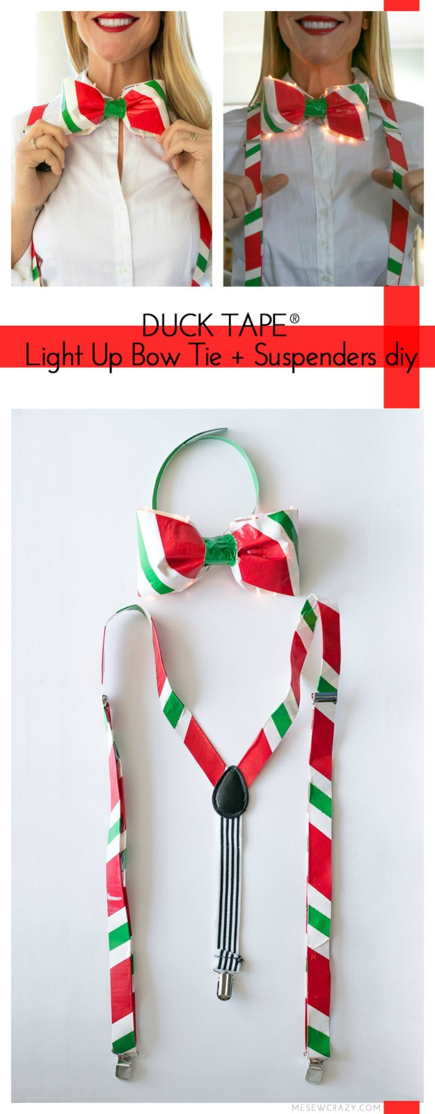 Use Duck Tape® to help make your Christmas party outfit extra special this year