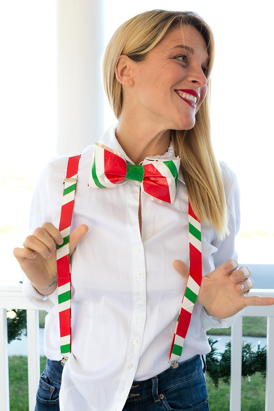 No Sew Christmas Party sweater DIY